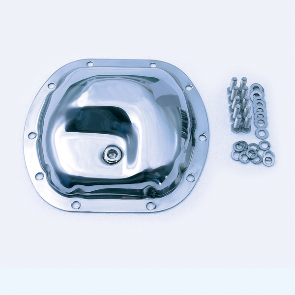 DIFFERENTIAL COVER, FRONT DANA-30, STAINLESS, 41-86 CJ, 97-06 WRANGLER