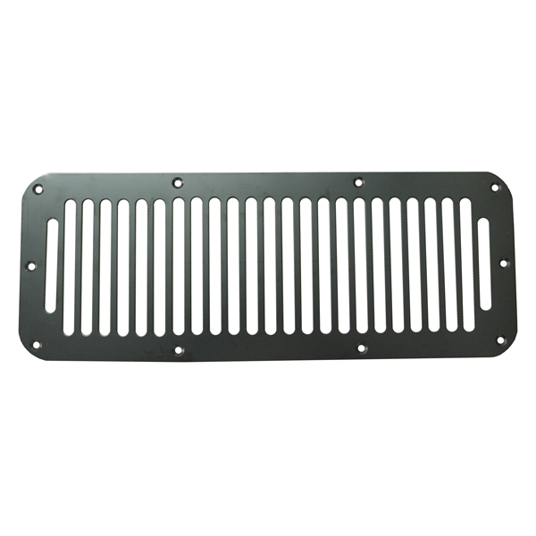 HOOD VENT COVER, 76-95 JEEP CJ/WRANGLER, BLACK