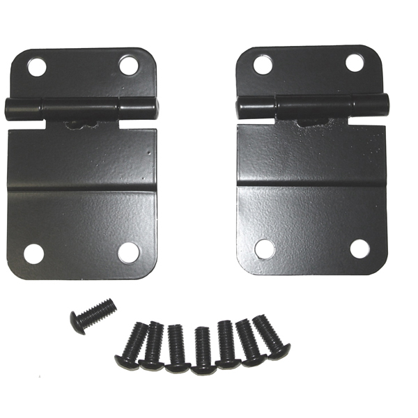 LOWER TAILGATE HINGE, 76-86 JEEP CJ, BLACK