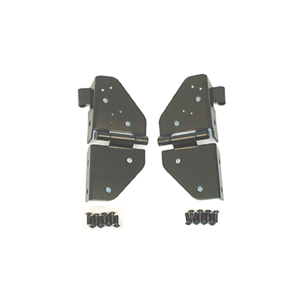 WINDSHIELD HINGES, 76-95 JEEP CJ & WRANGLER, BLACK