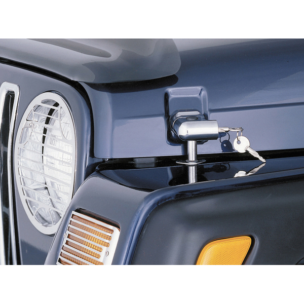LOCKING HOOD CATCH KIT, 97-06 WRANGLER/UNLIMITED, CHROME