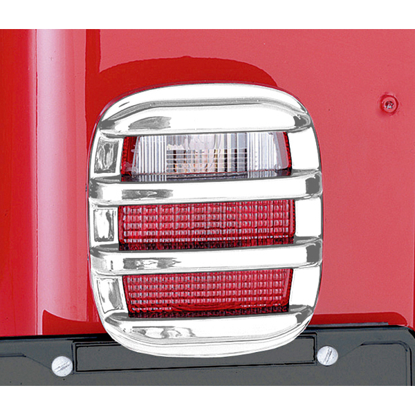 TAIL LIGHT GUARD SET, CHROME, 76-06 CJ/WRANGLER