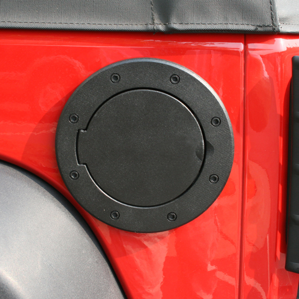 FUEL COVER BLACK ALUMINUM JK WRANGLER 07-09