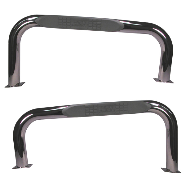 SIDE TUBE STEP, STAINLESS, 76-86 CJ7 PAIR