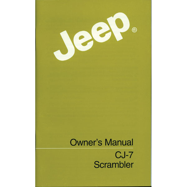 OWNERS MANUAL 84-86