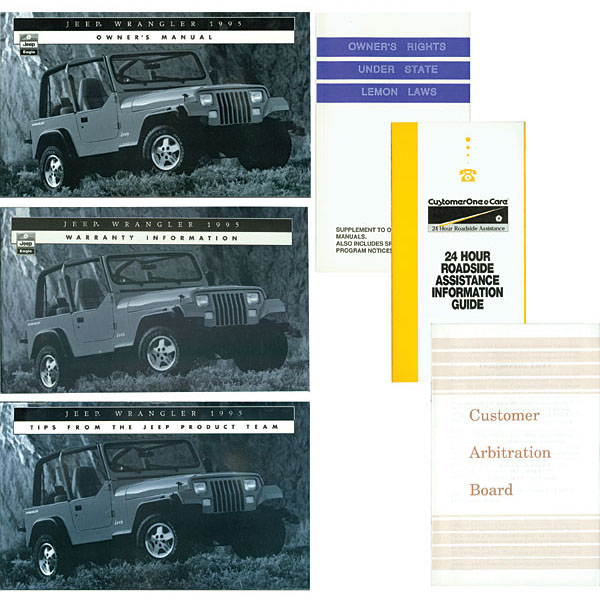 OWNERS MANUAL 95 YJ