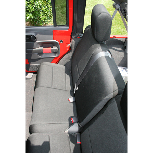 SEAT COVER REAR 4 DOOR JK 07 BLACK