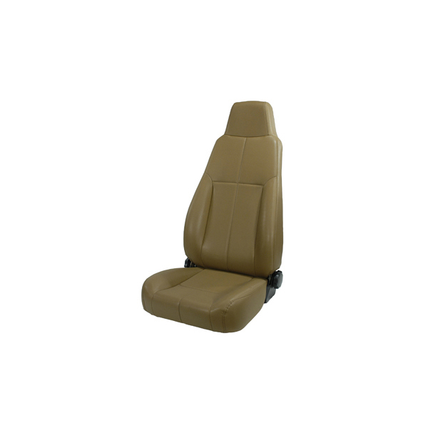 FRONT SEAT, RUGGED RIDGE, FACTORY REPLACEMENT WITH RECLINER, LATE MODEL HEAD REST, SPICE, 76-02 CJ & WRANGLER