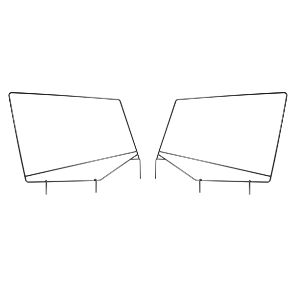 SOFT TOP UPPER DOOR SKIN FRAMES YJ 87-95 PAIR