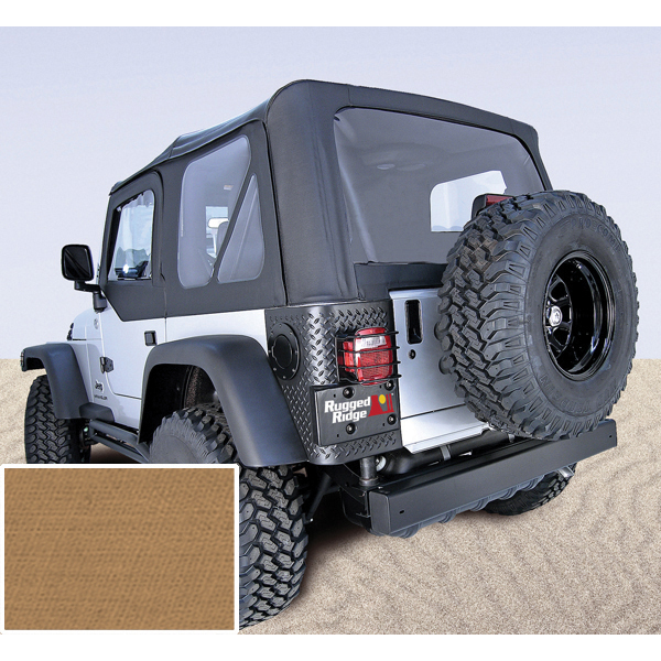 SOFT TOP, RUGGED RIDGE, FACTORY REPLACEMENT WITH DOOR SKINS, 97-02 WRANGLER, SPICE