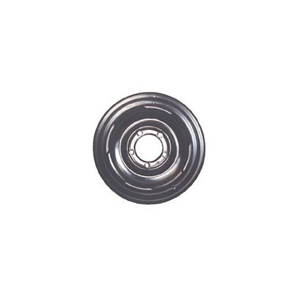 WHEEL 16X6 BLACK STEEL, JEEP CJ2A 46-49, CJ3A 48-53, CJ3B 53-64, CJ5 53-7, CJ6 55-71
