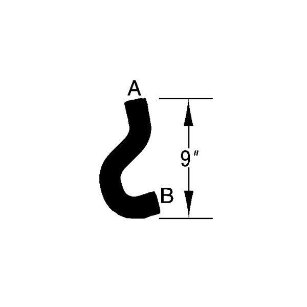 outlet hose chrysler ns 3 3l  u0026 3 8l 96