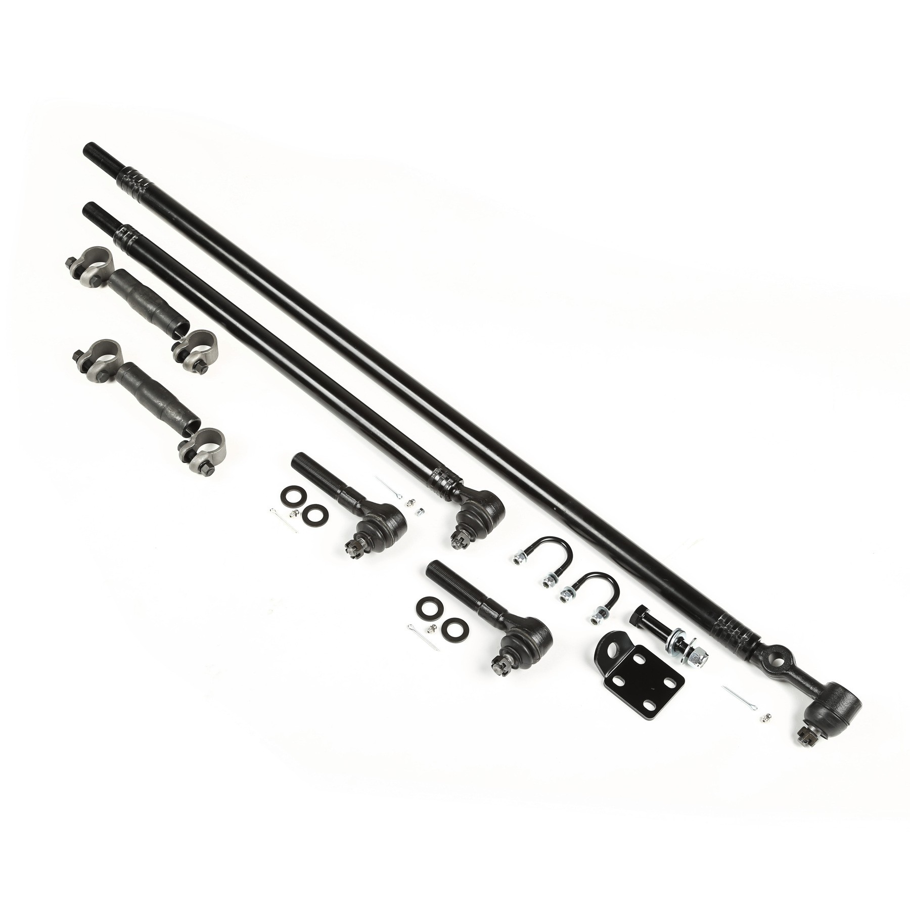 HD TIE ROD/ DRAG LINK KIT (FULL LINKAGE), 87-95 WRANGLER. INCLUDES ALL TIE ROD ENDS AND TUBES FOR DRAG LINK AND TIE ROD