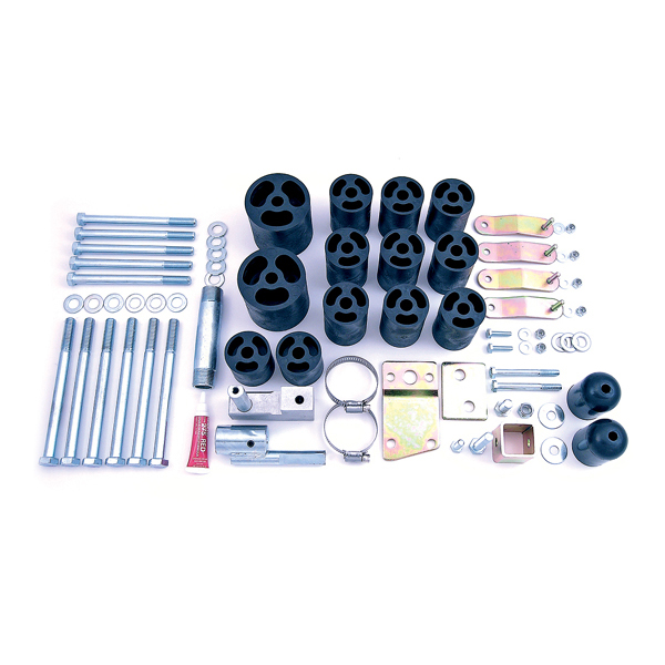 BODY LIFT KIT, RUGGED RIDGE, 3-INCH 97-06 WRANGLER, ALL (INCLUDES SIX SPEED UPGRADE KIT)