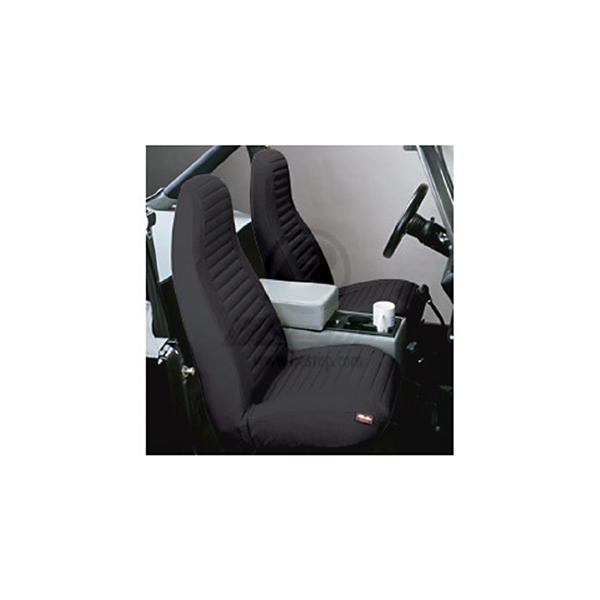 SEAT COVER, FRONT PAIR BLACK DENIM