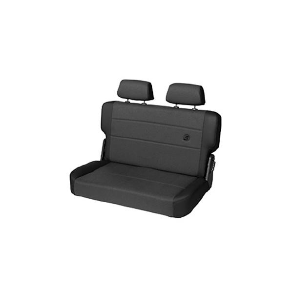 TRAILMAX II FOLD AND TUMBLE REAR BENCH SEAT FABRIC BLACK DENIM CJ 55-95
