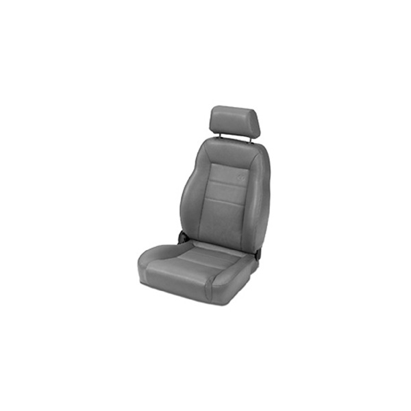 TRAILMAX II PRO RECLINING FRONT SEAT HIGH BACK VINYL PERMINM BUCKETT PASSENGER SIDE CHAROAL CJ 76-06