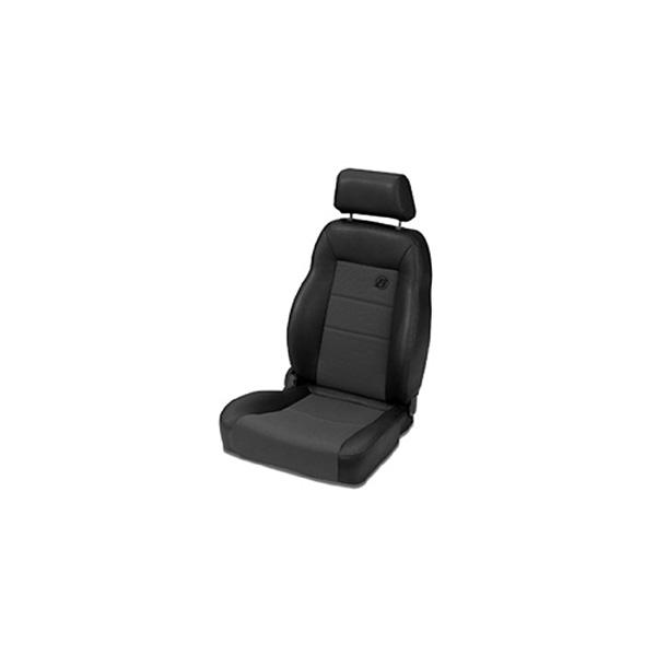 TRAILMAX II PRO RECLINING FRONT SEAT HIGH BACK FABRIC PERMINM BUCKET PASSENGER SIDE BLACK DENIM CJ 76-06