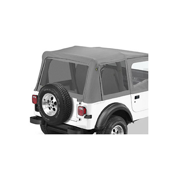 MESH WINDOWS YJ REPLACE-A-TOP CHARCOAL