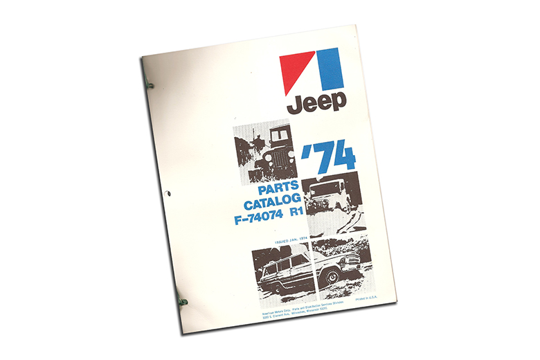 1974 Jeep Parts Catalog Revision 1