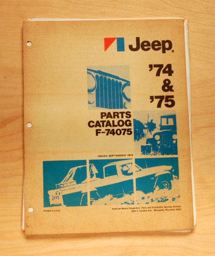 1974 & 1975 Jeep Parts Catalog