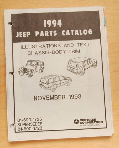 Jeep Parts Manual 1994