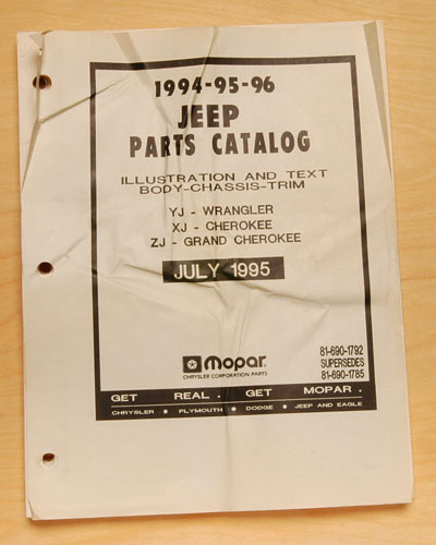 Jeep Parts Manual 1994-96