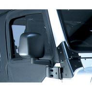 SIDE MIRROR, 03-06 JEEP WRANGLER/UNLIMITED, BLACK, RIGHT ONLYRugged Ridge offers the most complete line of replacement mirrors for Jeep vehicles found anywhere. All replacement mirrors are replicas of the factory original so you maintain that original equipment look while upgrading or replacing those the factory original so you maintain that original equipment look while upgrading or replacing those worn mirrors. Each replacement mirror uses only the finest materials ensuring a long life and ease of use. This is the mirror, mirror arm, and bracket.                     Replaces: 55395060ABMade in TAIWANUPC: 804314143756Label: 11002.10 MIRROR RH 03-06 TJ