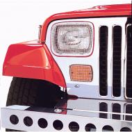 STONE GUARD SET, 6-PIECE,SATIN over SS, 87-95  WRANGLERProtect and enhance the look of your Jeep with stone guards. Each set includes six pieces to protect your headlights, taillights and turn signal indicators. These stone guards feature durable wire mesh construction signal indicators. These stone guards feature durable wire mesh construction                         Replaces: 7425Made in TAIWANUPC: 804314001339Label: 11102.02 GUARD 6PC LT Satin YJ