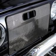 BUG SHIELD, STAINLESS, 97-06 TJ WRANGLERProtect your front grille from bugs and debris with this durable Radiator Bug Shield by Rugged Ridge. Each externally mounted Bug Shield is perforated for unencumbered air flow. Each shield is bound by soft rubber to prevent vehicle perforated for unencumbered air flow. Each shield is bound by soft rubber to prevent vehicle scratching. Installation requires some drilling.                        Replaces: 7439Made in TAIWANUPC: 804314001452Label: 11106.03 BUG SHIELD SS TJ  F9