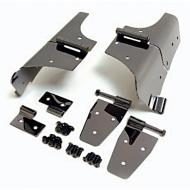 HINGE KIT, STAINLESS, 76-93 CJ/YJ WRANGLER WITH FULL DOORSThis beautiful multistage Black Chromed finish over rust proof prime 304 stainless gives your Jeep a rich and distinctive look. Each accessory is polished to a mirror finish and then individually dipped to ensure the Black Chrome is polished to a mirror finish and then individually dipped to ensure the Black Chrome finish jumps out. The three dimensional look you get from Black Chrome complements today's deep colored vehicles. Because our Black Chrome accessories are constructed from prime 304 stainless steel (including all mounting hardware), you will never have to worry about rust or corrosion. Kit includes Door Hinges, Windshield Hinges, and Lower Door Brackets.                 Replaces: 7920Made in TAIWANUPC: 804314002473Label: 11180.01 HINGE KIT BC 76-93 CJ