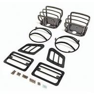 EURO GUARD KIT, BLACK CHROME, 97-06 WRANGLER