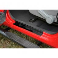ENTRY GUARD PAIR BLACK 2-DOOR JK WRANGLER 07-08Durable tough black powdercoated steel design for great looks and ultimate protection. No drill attachment makes installation a breeze. Tough automotive grade tape secures the entry guards to the vehicle. automotive grade tape secures the entry guards to the vehicle.                         Replaces: 11216.10Made in TAIWANUPC: 804314115999Label: ENTRY GUARD PR BLK 2-DR JK