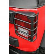 EURO GUARD PAIR TAIL LIGHT BLACK JK WRANGLER OE STYLE 07-09Special design actually contours the rear taillight of your 2007-08 Wrangler. Custom fit to install directly into factory mounting points for ease of installation and secure attachments. Rubber inserts around the mounting screws keep the ease of installation and secure attachments. Rubber inserts around the mounting screws keep the metal euro guard off the taillight, prevents scratching and rattles.                       Replaces: 11226.02Made in TAIWANUPC: 804314116019Label: EUROGUARD TAIL LIGHT BLK JK