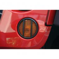 EUROGUARD PARK LIGHT BLACK PAIR JK WRANGLER 07-09The turn signal light guards are designed to match our Headlight Euro-Guards. They feature the same great style and construction. They give a rugged look while protecting an important area. Sold in pairs. look while protecting an important area. Sold in pairs.                         Replaces: 11231.11Made in TAIWANUPC: 804314116040Label: EUROGUARD BLK PARK LAMP JK, PR