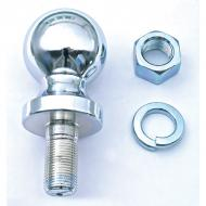 CHROME HITCH BALL ASSEMBLY, 2 INCH X 3/4 INCHThis chrome plated hitch ball includes a matching mounting nut and lock washer.                              Replaces: MS-642Made in TAIWANUPC: 804314076665Label: 11305.01 HITCH BALL ASY 2x3/4