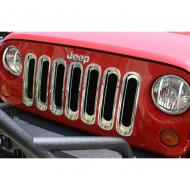 GRILLE INSERT SET CHROME JK WRANGLER 07-09