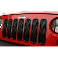 GRILLE INSERT BILLET SET BLACK ALUMINUM JK WRANGLER 07-09Durable UV treated inserts enhance the front of your Jeep®. These inserts add great styling and a unique appearance. All Rugged Ridge inserts easily install without drilling or tools. Just click them in and go! install without drilling or tools. Just click them in and go!                         Replaces: 11401.30Made in CHINAUPC: 804314116361Label: GRILLE INSERT BILLET BLK AL JK