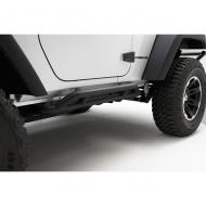RRC ROCKER GUARDS, RUGGED RIDGE, JEEP WRANGLER (JK) 07-09 2-DOOR, BLACKWill fit Rubicon models, but factory rocker guard must be removed.                              Replaces: 11504.23Made in 0UPC: 804314172114Label: RRC ROCKER GUARDS JK 2DR BLK