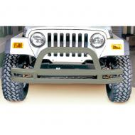 FRONT TUBE BUMPER, TITANIUM, 76-06 CJ, JEEP WRANGLER/UNLIMITED