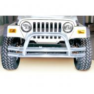 FRONT TUBE BUMPER, STAINLESS, 76-06 CJ, JEEP WRANGLER/UNLIMITED