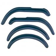 FENDER FLARE KIT, 4-PIECE, CJ5, CJ6, CJ7Rugged Ridge provides the most comprehensive replacement Fender Flare program on the market today. Covering model years starting in 1955 until current, Rugged Ridge has you covered when it is time to replace or upgrade your Factory Fender current, Rugged Ridge has you covered when it is time to replace or upgrade your Factory Fender Flares. Each flare is constructed of virtually indestructible, durable, UV treated thermoplastic to provide years of service. Each replacement flare is designed to fit into your factory mounting holes (some models may require some hole relocation) for ease of installation. This is a 4-piece kit with hardware.                  Replaces: 8997109Made in TAIWANUPC: 804314049027Label: 11601.01 FLARE KIT 4PC CJ