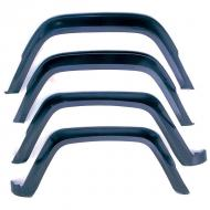 FENDER FLARE KIT, 84-96 XJRugged Ridge provides the most comprehensive replacement Fender Flare program on the market today. Covering model years starting in 1955 until current, Rugged Ridge has you covered when it is time to replace or upgrade your Factory Fender current, Rugged Ridge has you covered when it is time to replace or upgrade your Factory Fender Flares. Each flare is constructed of virtually indestructible, durable, UV treated thermoplastic to provide years of service. Each replacement flare is designed to fit into your factory mounting holes (some models may require some hole relocation) for ease of installation. This is a 4-piece kit.                  Replaces: 5AG-K4Made in TAIWANUPC: 804314132347Label: 11605.01 FLARE KIT 4PC XJ
