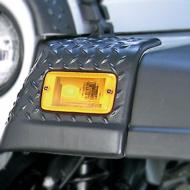 FENDER GUARD FRONT PAIR TJGet that offroad look with Rugged Ridge Body Armor! Each Body Armor piece is constructed of black diamond plate looking UV treated thermoplastic for the coolest, toughest looking up-grade for your Jeep. Each body armor attaches thermoplastic for the coolest, toughest looking up-grade for your Jeep. Each body armor attaches to your Jeep with ultra strong 3M tape to ensure a secure fit (front guard also may require some under hood drilling). Have a scratch or dent on your paint? Cover it up with body Armor! Simply fill in the scratched area with touch-up paint (to prevent rust) and install the Body Armor. You have now repaired and upgraded!                  Replaces: 11650.20Made in CHINAUPC: 804314117405Label: FENDER GUARD FR PAIR TJ F9