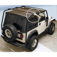 RR ROOF RACK, 97-06 WRANGLER TEXTURED BLACK