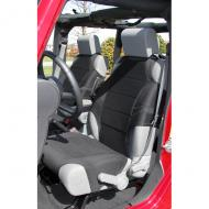 SEAT VEST PAIR NEOPRENE JK BLACK