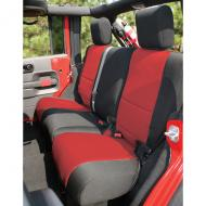 SEAT COVER REAR 4-DOOR JK 07-08 BLACK / RED