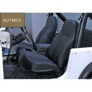 STANDARD FRONT BUCKET SEAT, NUTMEG, 76-02 JEEP CJ & WRANGLERWant all the strength and comfort of our reclining seat but without the recliner? Look no further! The Standard Replacement Seat from Rugged Ridge offers all the great quality benefits of our reclining seat but we have removed the reclining offers all the great quality benefits of our reclining seat but we have removed the reclining mechanism. This low cost alternative gives you the value and quality you are looking for but is priced less.                      Replaces: 13401.07Made in CHINAUPC: 804314120214Label: 44907 SEAT FR N-MEG NO-RECL CY