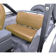 STANDARD REAR SEAT, TAN, 55-95 JEEP CJ & WRANGLER