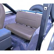 STANDARD REAR SEAT, GRAY, 55-95 JEEP CJ & WRANGLERLooking for a tough rear seat that does not fold and tumble? Look no further as the Standard Rear Seat from Rugged Ridge is the economical solution. Like the Fold and Tumble versions, these tough rear seats are constructed of durable automotive Like the Fold and Tumble versions, these tough rear seats are constructed of durable automotive grade vinyl that is designed to match your vehicles interior and all Rugged Ridge front seats. The frame and all brackets are powdercoat painted and welded to ensure a long life. Each seat is bolted directly to your vehicles floor board with minimal drilling required.                   Replaces: 13461.09Made in CHINAUPC: 804314120474Label: 8011 SEAT REAR STD L-GREY CY